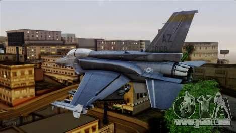 EMB F-16F Fighting Falcon US Air Force para GTA San Andreas left