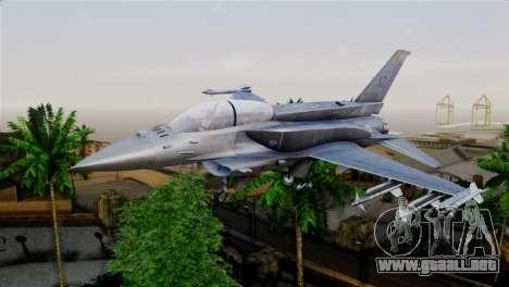 EMB F-16F Fighting Falcon US Air Force para GTA San Andreas