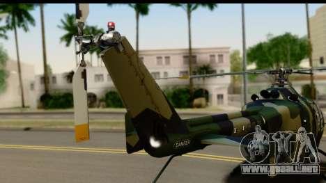 MBB Bo-105 Army para la visión correcta GTA San Andreas