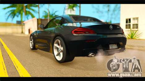 BMW Z4 sDrive35is 2011 para GTA San Andreas left