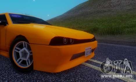 Elegy Hatchback v.1 para visión interna GTA San Andreas