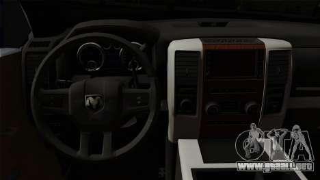 Dodge Ram QuickSilver para la visión correcta GTA San Andreas