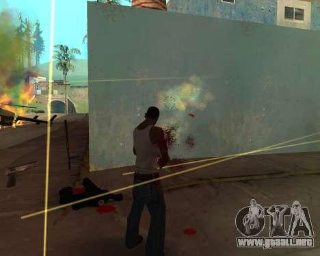 Rainbow Effects para GTA San Andreas sucesivamente de pantalla