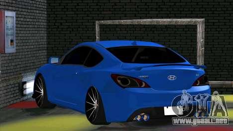 Hyundai Genesis Coupe para la visión correcta GTA San Andreas