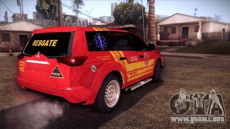 Mitsubishi Pajero Dakar 2014 CBESP para GTA San Andreas left