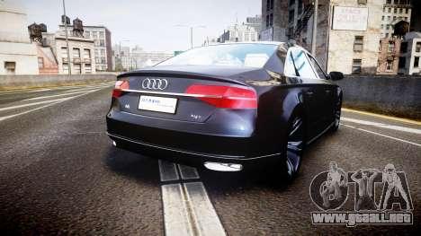 Audi A8 L 2015 Chinese style para GTA 4 Vista posterior izquierda