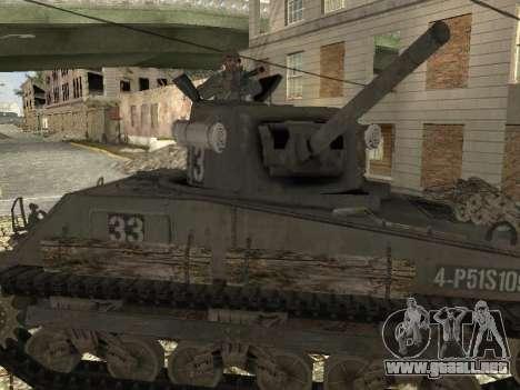 Tanque M4 Sherman para la visión correcta GTA San Andreas