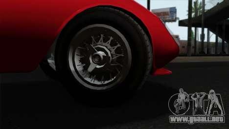 GTA 5 Grotti Stinger GT v2 IVF para GTA San Andreas vista posterior izquierda