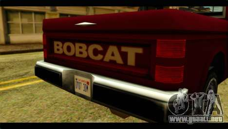 Bobcat Technical Pickup para GTA San Andreas vista hacia atrás