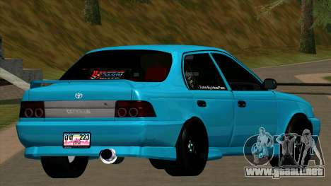 Toyota Corola AE100 para la visión correcta GTA San Andreas