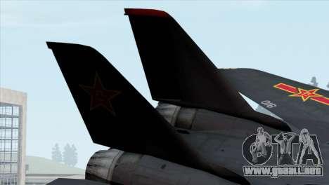 F-14 China Air Force para GTA San Andreas vista posterior izquierda