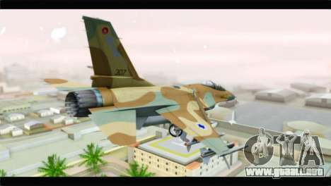 F-16A Netz para GTA San Andreas left