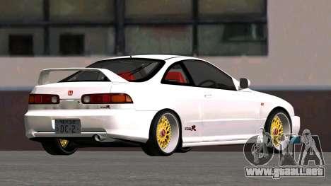 Honda Integra Type R 2000 para GTA San Andreas vista posterior izquierda