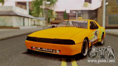 Elegy Full Customizing para visión interna GTA San Andreas
