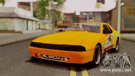Elegy Full Customizing para visión interna GTA San Andreas