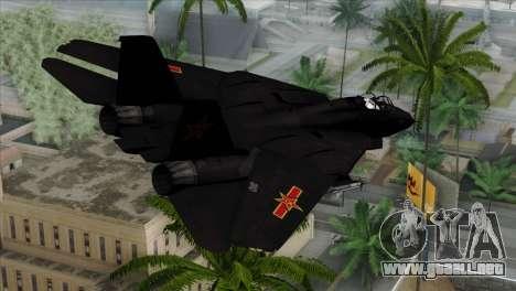F-14 China Air Force para GTA San Andreas left