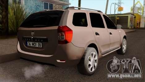 Dacia Logan MCV 2013 IVF para GTA San Andreas left