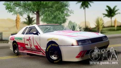 Elegy NASCAR para visión interna GTA San Andreas