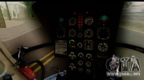 MBB Bo-105 KLM para GTA San Andreas vista hacia atrás