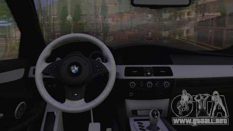 BMW M5 E60 2009 Stock para la visión correcta GTA San Andreas