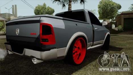Dodge Ram QuickSilver para GTA San Andreas left