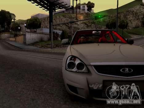 ВАЗ 2172 (Lada Priora) para GTA San Andreas vista hacia atrás