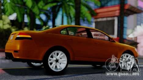 Vapid Interceptor v2 SA Style para GTA San Andreas vista posterior izquierda
