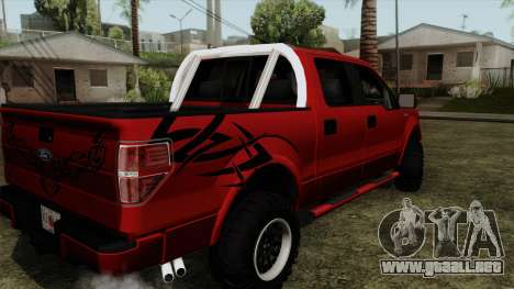 Ford F150 Off Road para GTA San Andreas left