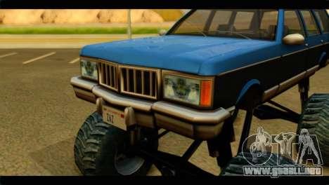 Monster Regina para GTA San Andreas vista hacia atrás