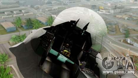 F-16C Jastrzab para GTA San Andreas vista hacia atrás