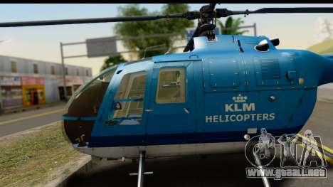 MBB Bo-105 KLM para la visión correcta GTA San Andreas