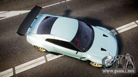 Nissan GT-R R35 Rocket Bunny [Update] para GTA 4 visión correcta