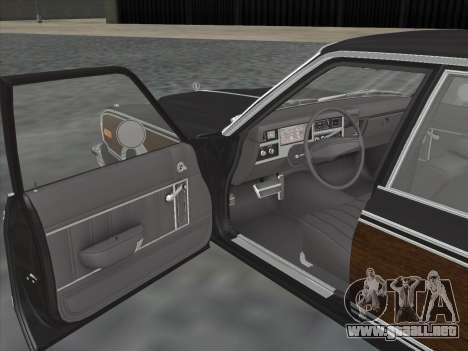 Plymouth Volare Wagon 1976 wood para GTA San Andreas vista hacia atrás