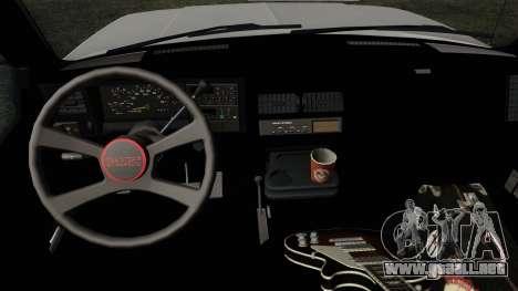 GMC Sierra 2500 1992 Extended Cab Final para la visión correcta GTA San Andreas