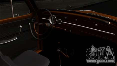 Volkswagen Beetle 1969 para la visión correcta GTA San Andreas