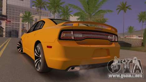 Dodge Charger SRT8 2012 Stock Version para GTA San Andreas vista posterior izquierda