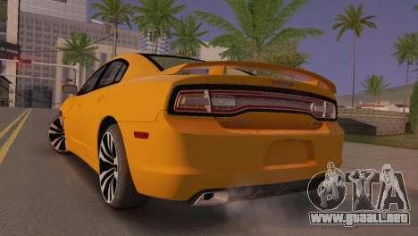 Dodge Charger SRT8 2012 Stock Version para GTA San Andreas vista posterior izquierda
