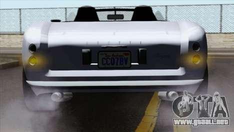 GTA 5 Grotti Stinger v2 IVF para GTA San Andreas vista hacia atrás