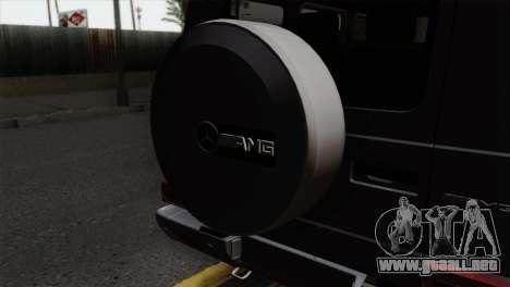 Mercedes-Benz G65 AMG Carbon Edition para GTA San Andreas vista hacia atrás