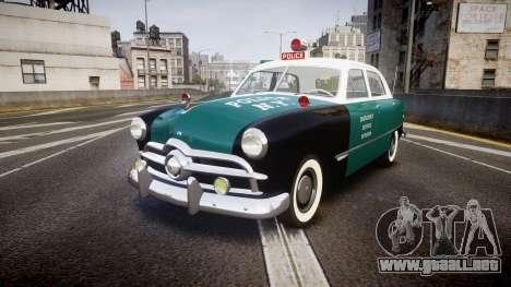Ford Custom Fordor 1949 New York Police para GTA 4