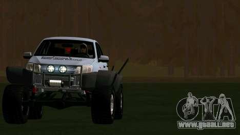 VAZ 2190 de la Subvención para GTA San Andreas vista hacia atrás