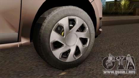 Dacia Logan MCV 2013 IVF para GTA San Andreas vista posterior izquierda