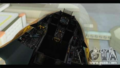 F-16A Netz para GTA San Andreas vista hacia atrás