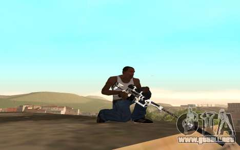 Skeleton Weapon Pack para GTA San Andreas tercera pantalla