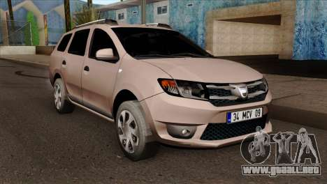 Dacia Logan MCV 2013 IVF para GTA San Andreas