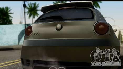 Alfa Romeo Mito Tuning para la visión correcta GTA San Andreas