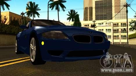 BMW Z4M Coupe 2008 para visión interna GTA San Andreas
