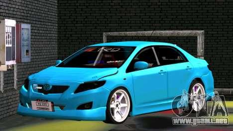 Toyota Corolla Altis para la visión correcta GTA San Andreas