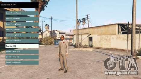 Para cambiar el carácter v2.0 para GTA 5