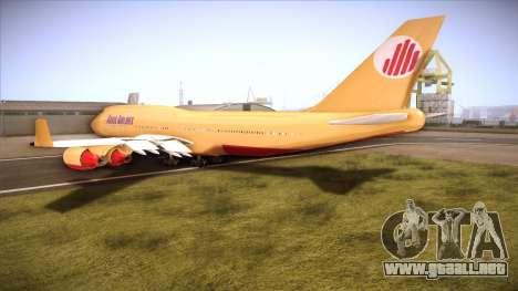 GTA V 747 Adios Airlines para GTA San Andreas vista posterior izquierda